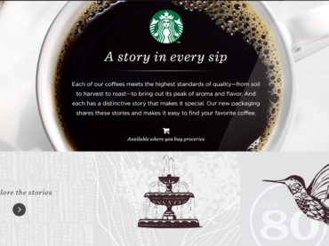 Starbucks Coffee Stories Website